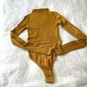 Free People mustard yellow bodysuit M/L (m2)